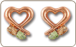 Black Hills Gold Heart Earrings (SKU: ER3081)