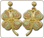 Black Hills Gold Shamrock Earrings (SKU: ER687PD)