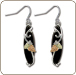 Black Hills Silver Onyx Earrings (SKU: ER990SS)