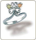 Sterling Silver Butterfly Toe Ring (SKU: LR2935SS)
