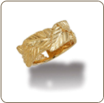 "Ladies Black Hills Gold Ring with ""Leafwrap"" Black Hills Gold Leaves (SKU: LR3049)"