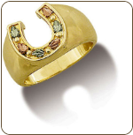 Ladies Black Hills Gold Horseshoe Ring (SKU: LR511)