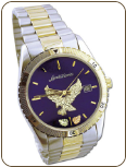 Mens Landstroms Watch with Black Hills Gold Eagle and Leaves, Metal Band (SKU: MWB532)