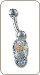 Sterling Silver Flip Flop Sandal Belly Button Ring (SKU: NR507SS)