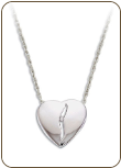 B. Sterling Silver Diamond Heart Pendant (SKU: PE5001XSS)
