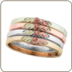 Black Hills Gold Rosebud Stackable Ring (SKU: G L10033)