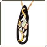 Black Hills Gold Black Powder Coated Pendant (SKU: G LPE3299)