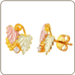 Black Hills Gold Diamond Earrings (SKU: 01277)