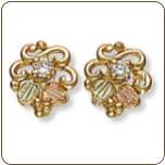 Black Hills Gold Diamond Earrings (SKU: 01734X)