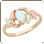 Black Hills Gold Ladies Ring with Opal (SKU: 02436)