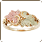 Ladies Black Hills Gold Ring with Leaves (SKU: 02800)