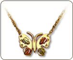 Black Hills Gold Butterfly Pendant (SKU: 03646-10K)
