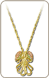 Black Hills Gold Angel Pendant (SKU: 03714)