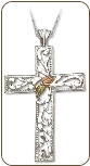 Black Hills Silver Cross Pendant (SKU: 03747SS)