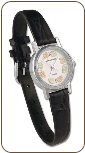 Ladies Landstroms Sterling Silver Watch with Black Hills Gold Leaves (SKU: 09250SS)