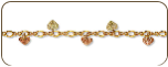 Black Hills Gold Bracelet with Leaves (SKU: B445)