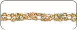 Black Hills Gold Bracelet with Leaves (SKU: BR3005)