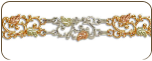Sterling Silver Bracelet with Black Hills Gold Leaves (SKU: BR3007SS)