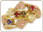 Black Hills Gold Mothers Ring with Birthstones (SKU: D2155)