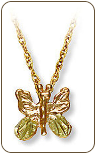 Black Hills Gold Butterfly Pendant (SKU: E312-18)