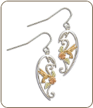 Sterling Silver Hummingbird Earrings for Pierced Ears (SKU: ER1935SS)