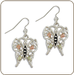 Black Hills Silver Butterfly Earrings (SKU: ER3000SS)