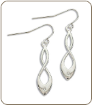 II. Sterling Silver Diamond Earrings (SKU: ER5012XSS)