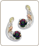 Mystic Fire Topaz Earrings, in Sterling Black Hills Silver (SKU: ER564PSS-471)