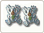Sterling Silver Frog Earrings for Pierced Ears (SKU: ER609SS)