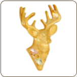 Black Hills Gold Deer Tie Tack / Lapel Pin (SKU: 04029)