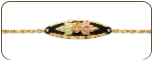 Black Hills Gold Bracelet with Leaves and Grapes (SKU: BR880-BLK)