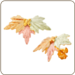 Black Hills Gold Classic Earrings with Leaves, for Pierced Ears (SKU: G LER1218)