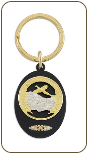 Black Hills Gold Key Ring with Black Hills Gold Leaves (SKU: OT305)