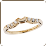 Ladies Black Hills Gold Engagement Ring / Eternity Ring with Diamonds (SKU: G LWR934BD)