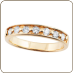Ladies Black Hills Gold Engagement Ring / Eternity Ring with Diamonds (SKU: G LWR937.35BD)