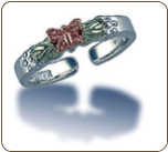 Sterling Silver Butterfly Toe Ring (SKU: LR188SS)