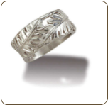 "Sterling Silver Ladies Ring with ""Leafwrap"" Silver Leaves (SKU: LR3050SS)"