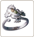 Sterling Silver Frog Toe Ring (SKU: LR609SS)