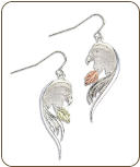 Sterling Silver Eagle Earrings for Pierced Ears (SKU: ER1933SS)
