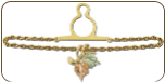 Black Hills Gold Tie Chain with Leaves (SKU: OT541)