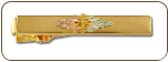 Black Hills Gold Tie Bar with Leaves and Grape Clusters (SKU: OT546)