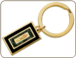 Black Hills Gold Key Ring with Black Hills Gold Leaves (SKU: OT554)
