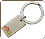 Landstroms Key Ring with Black Hills Gold Leaves (SKU: OT555)
