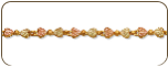 Black Hills Gold Heart Bracelet (SKU: P719)