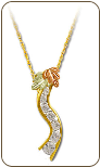 Black Hills Gold Journey Necklace with Cubic Zirconia and Black Hills Gold Leaves (SKU: PE1009-101)