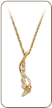 Black Hills Gold Journey Necklace with Cubic Zirconia and Black Hills Gold Leaves (SKU: PE1012-101)