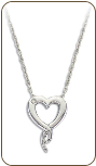 D. Sterling Silver Diamond Heart Pendant (SKU: PE5007XSS)