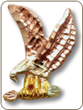 Black Hills Gold Eagle Tie Tack / Lapel Pin (SKU: R784R)