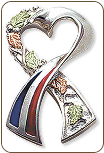 Support America Ribbon Tie Tack / Lapel Pin (SKU: TT945SS)