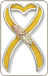 Support America Yellow Ribbon Tie Tack / Lapel Pin (SKU: TT950SS-YEL)
